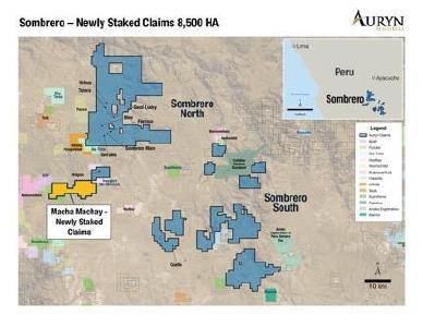 Abbildung 1: Veranschaulicht die 8.500 Hektar, die kürzlich abgesteckt wurden und jetzt Teil des Projektgebiets Sombrero North sind