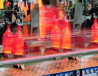 Produktion von Glasflaschen