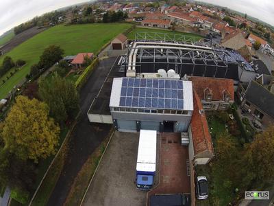Middelkerke PV system on city building