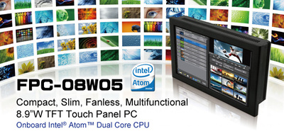 8.9 inch WSVGA TFT Touch Panel PC