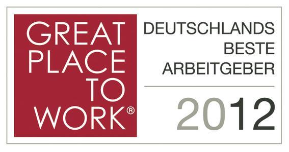 Logo Great Place to Work: Deutschlands Beste Arbeitgeber 2012