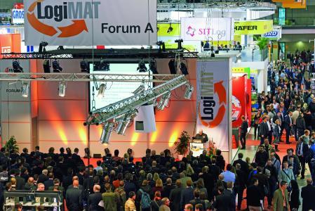 LogiMAT in Stuttgart als jpg; 2018 führt der Bundesverband Industrie Kommunikation e.V. in Kooperation mit LOGISTIK HEUTE auf der Intralogistikschau einen Messerundgang durch; Fotocredit: Euroexpo Messe- und Kongress-GmbH