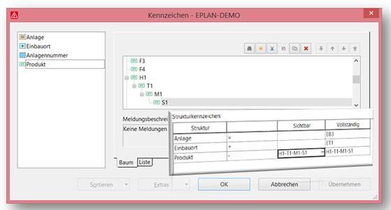 Die Eplan Plattform unterstützt zahlreiche Normen wie beispielsweise die IEC 81346 sowie die IEC 61355 (Quelle: Eplan Software & Service GmbH & Co. KG)