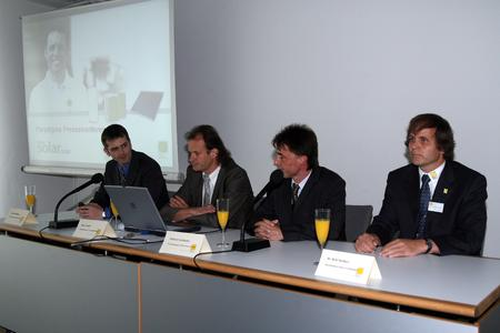 Intersolar press conference of the Paradigma Group at Munich, 12 June