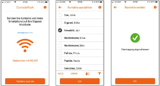 Gigaset ContactsPush App Anwendung
