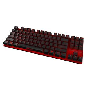 Die kompakte mechanische Gaming-Tastatur STRIKE Battle von OZONE mit LED-Beleuchtung und Alu-Oberfläche