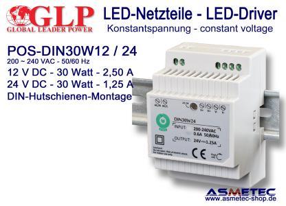 GLP LED-Netzteil POS DIN 30 Watt