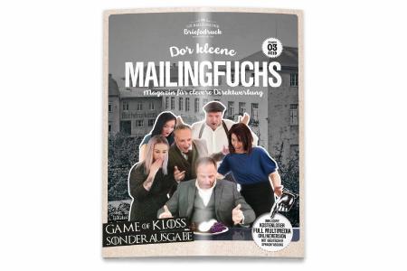 """Cover der Sonderausgabe von """"Dor kleene Mailingfuchs"""" Bild: Briefodruck"""