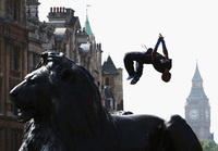 Barclaycard World Freerun Championships auf dem Trafalgar Square in London