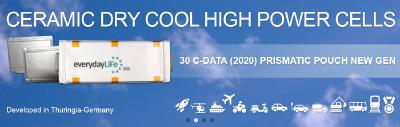 Giga-Watt request for new Gen Ceramic Cool Dry Power Battery Lithium Cell Fab-made in Germany