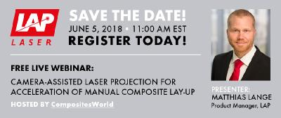 LAP Presents Free Webinar: How to Speed up Laser Projection Tasks in Composite Manufacturing