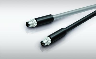 Reliable EMC with 360° shielding: M8 cable connectors for sensitive applications
