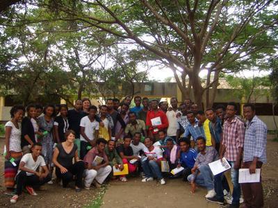 Äthiopische Studenten nach erfolgreichem Training