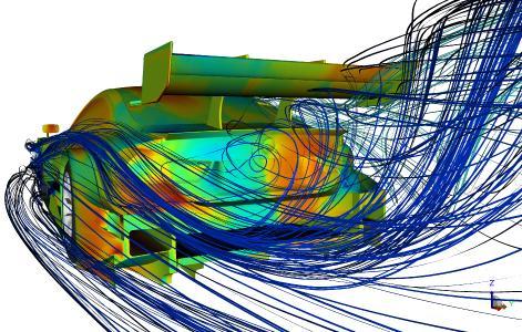 CFD-Simulation, BMW M4 DTM