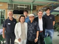 Nach über 50 Jahren stattete Frans Rudy Hartana aus Indonesien gemeinsam mit seiner Frau dem SKZ einen Besuch ab (Bild: SKZ)