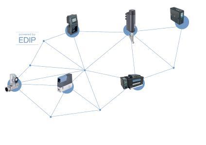 Bild 1: Die Geräteplattform EDIP stößt für alle intelligenten Bürkert-Geräte das Tor zur digitalen Vernetzung auf und bietet praxisgerechte Bedien- und Parametriermöglichkeiten. (Quelle: Bürkert)