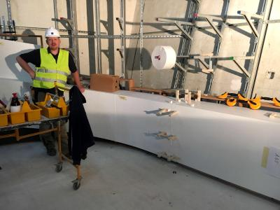 Michael Peterseim and his assembly team were on site for a total of 24 weeks and put the gigantic puzzle together with millimetre accuracy.