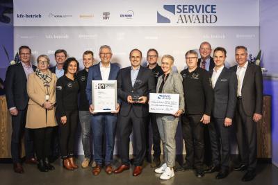 """Das Autohaus Beresa OWL aus Detmold gewinnt den """"Service Award 2019"""" (Foto: Stefan Bausewein / Vogel Communications Group)"""