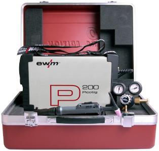 Die EWM AG liefert die Picotig 200 in einem praktischen Koffer für die Baustelle, in dem Stromquelle und sämtliches Zubehör griffbereit verstaut wird. Das tragbare WIG-Inverter-Schweißgerät zeigt EWM auf der Intec in Leipzig, Bildquelle: EWM