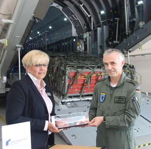 "Handover ceremony for the ""Cargo Hold Trainer - Enhanced"" at Germany's 62nd Air Transport Wing in Wunstorf"