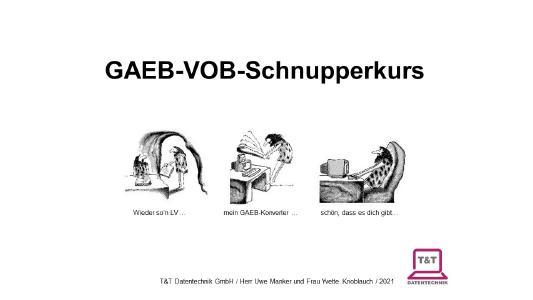 Startbildschirm Online-GAEB-VOB-Schnupperkurs