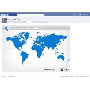 Aktuelle Pressemeldungen im BMW Group Facebook Profil