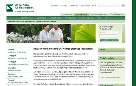 Internetauftritt Dr. Willmar Schwabe