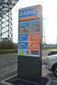 Infosäule E-MAXX Ladepark