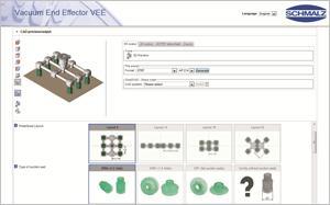 Konfigurieren anstatt konstruieren: Mit dem Online-Konfigurator in wenigen Schritten zum Vakuum-Endeffektor