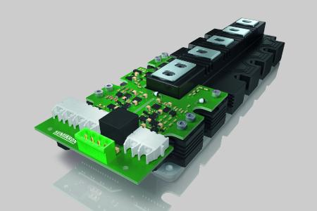IGBT Treiber mit optischer Schnittstelle erlaubt Umrichterdesign ohne externe Sensorik