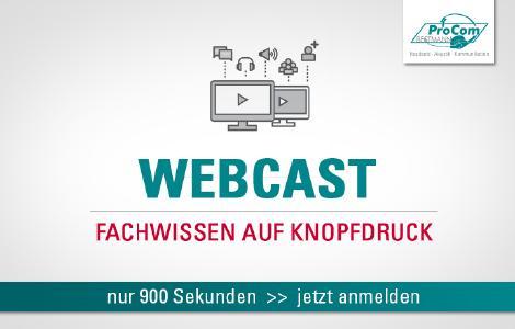 Fachwissen auf Knopfdruck - mit der Webcast-Reihe von ProCom-Bestmann