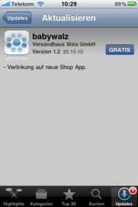 Update Notes der babywalz Image App