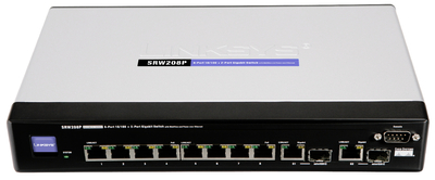 Cisco Small Business (ehemals Linksys Business Serie) 8-Port Switch mit PoE und Webview