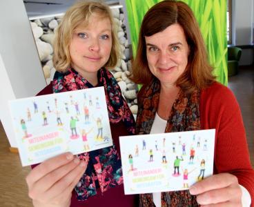 Kristina Lohre und Claudia Herbst sind Ansprechpartnerinnen für den Integrationsfonds der Region Hannover