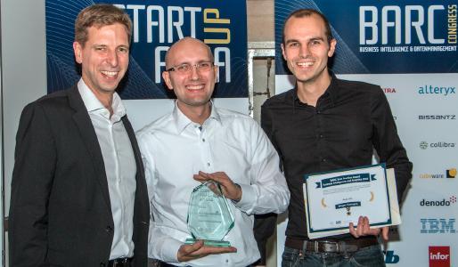 Dr. Carsten Bange, Geschäftsführer BARC, Dr. Dieter W. Joenssen, Data Scientist der Audi AG, Sebastian Herbst, Prozess- und Systemintegrator der Audi AG (v.l.n.r.). (c) BARC – a CXP Group Company
