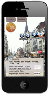 Coupons in der 'Augmented Reality' finden