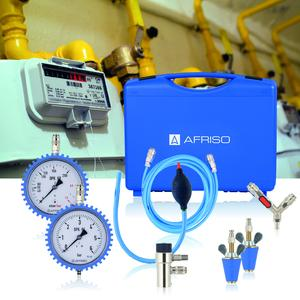 The AFRISO DPK 60-5 leak testers are suitable for tests on gas/liquid gas pipes as well as drinking water pipes as per German ZVSHK. The set is contained in a robust plastic case