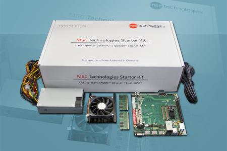 MSC Technologies introduces starter kits for COM Express module families with 7th generation Intel Core processors