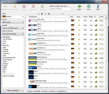 Perfekt nicht nur für den Mitschnitt aus dem Internet: Audials Radiotracker 9 (Screenshot)