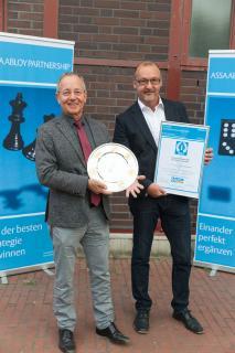 Den ersten Platz der PARTNERSHIP-Meisterschaft 2016 sicherte sich die Schmidt + Meldau GmbH aus Köln. Foto: ASSA ABLOY Sicherheitstechnik GmbH