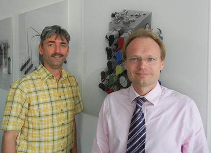 Bernd Menzel und Thomas Fricke, IT-Verantwortliche bei Fluitronics