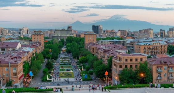 Die armenische Hauptstadt Eriwan