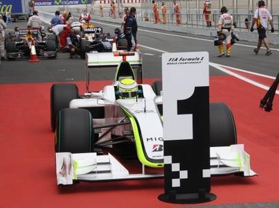 Jenson Button (Brawn GP) in Barcelona auf Pole