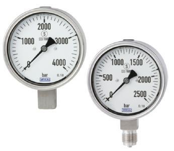 High-pressure gauges PG23HP-P and PG23HP-S