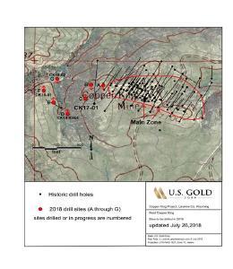 U.S. Gold Corp. liefert Update zu seinem Bohrprogramms 2018 bei Copper King