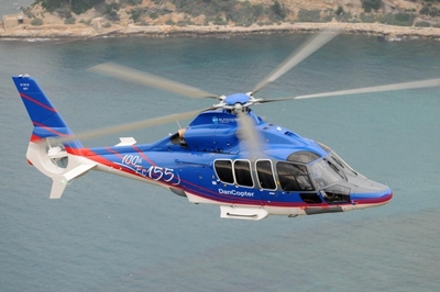 Eurocopter hands over an additional EC155 B1 to Dancopter, Marking the 100th EC155 and 900th Dauphin Helicopter Family Delivery