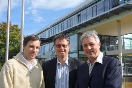 Dr. Stefan Krischok, Prof. Andreas Schober, Prof. Heiko O. Jacobs / Fotos: © TU Ilmenau