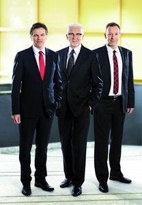 Die Geschäftsführung der Materna GmbH (v.l.n.r.): Helmut an de Meulen, Dr. Winfried Materna, Ralph Hartwig