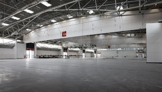 Die individuell unterteilbare Halle C6.