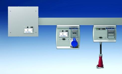 Eine Starline-Stromschiene ermöglicht das sekundenschnelle Hinzufügen von Abgangskästen zur einfachen Elektrifizierung von Racks im Rechenzentrum